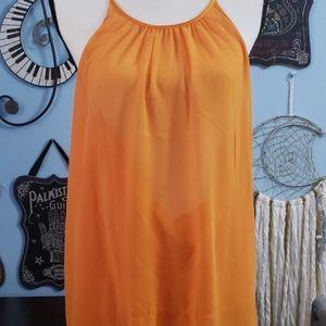 Eva Mendes NY&C Orange Top sz XL, NWOT